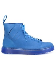 Off White Lace Up Boots Blue