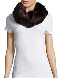 Collection 18 Faux Fur Cowlneck Muffler Coffee
