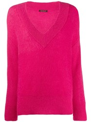 Luisa Cerano V Neck Sweater Pink
