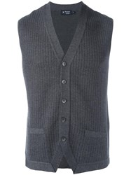 Hackett Knitted Vest Grey