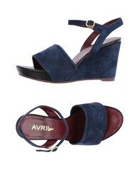 Avril Gau Sandals Dark Blue