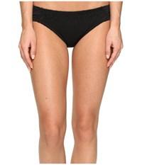 Becca Prairie Rose American Tab Side Bottoms Black Women's Swimwear