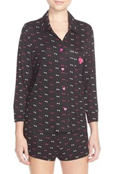 Women's Betsey Johnson Embroidered Heart Pajamas