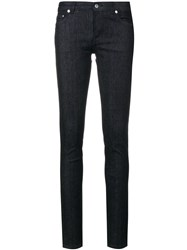 Givenchy Mid Rise Skinny Jeans Cotton Polyester Spandex Elastane Blue