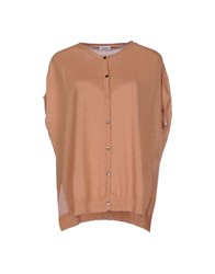 Gold Case Knitwear Cardigans Women Sand