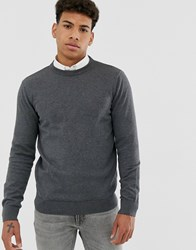 New Look Crew Neck Jumper In Grey