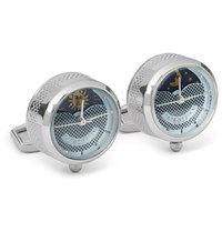 Tateossian Sun And Moon Stainless Steel Cufflinks Silver