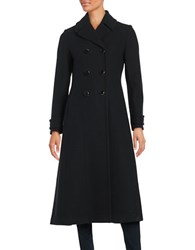 Kate Spade Double Breasted Wool Blend Coat Black