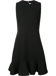 Victoria Beckham Peplum Hem Dress Black
