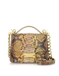 Ghibli Golden Python Leather Shoulder Bag