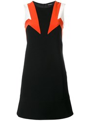 Neil Barrett Geometric Pattern Dress Black