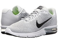 Nike Air Max Sequent 2 Pure Platinum Black Cool Grey Wolf Grey Men's Running Shoes White
