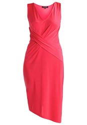 Ilse Jacobsen Emma Jersey Dress Hot Pink Coral