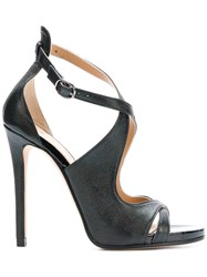 Marc Ellis Cross Strap Sandals Black