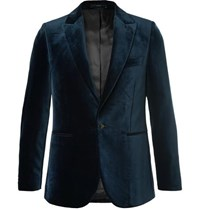 Paul Smith Midnight Blue Velvet Tuxedo Jacket
