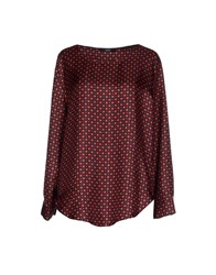 Seventy By Sergio Tegon Shirts Blouses Women Red