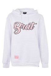 Illustrated People 'Brat' Slogan Hoodie By White
