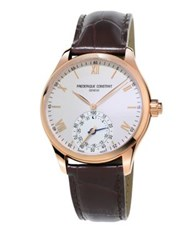 Frederique Constant Horological Leather Strap Smart Watch Black