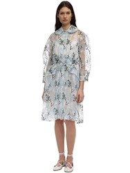 Simone Rocha Embroidered Organza Duster Coat Ivory