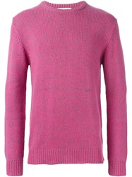 Ymc Crew Neck Sweater Pink And Purple