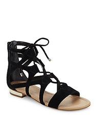 Saks Fifth Avenue Danos Leather Gladiator Sandals Black