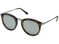 Le Specs No Smirking Tort Silver Revo Mirror Fashion Sunglasses Animal Print