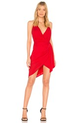 Style Stalker Dacey Draped Dress Red
