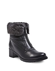 Blondo Formosa Sheepskin Collar Ankle Boots Black
