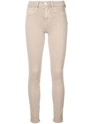 L'agence Mid Rise Skinny Jeans Grey