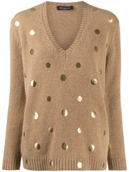 Piazza Sempione Metallic Dot Jumper Neutrals