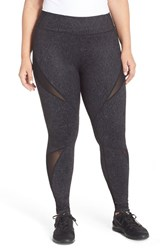 Plus Size Women's Zella 'Live In Starscape' Mesh Inset Leggings