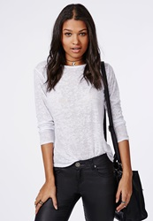 Missguided Burnout Long Sleeve Jersey White
