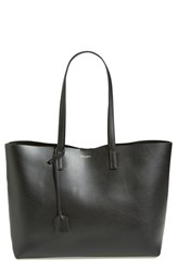 Saint Laurent 'Shopping' Leather Tote Black Noir