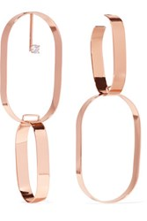 Maison Martin Margiela Rose Gold Plated Crystal Earrings One Size