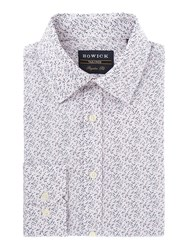 Howick Men's Tailored Underwood Floral Print Shirt Blue