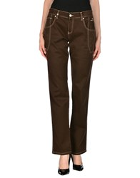 Nicwave Trousers Casual Trousers Women Dark Brown