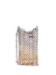 Paco Rabanne Iconic 1969 Chain Shoulder Bag Silver Gold