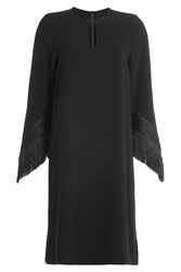 Steffen Schraut Dress With Fringed Sleeves Black