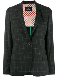 Paul Smith Ps Windowpane Check Blazer Black