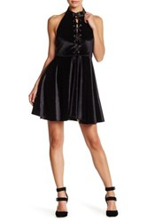 Romeo And Juliet Couture Halter Skater Dress Black
