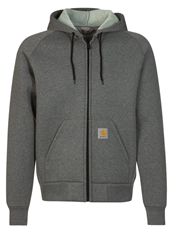 Carhartt Carlux Hooded Jacket Tracksuit Top Dark Grey Heather Grey Mottled Dark Grey