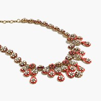 J.Crew Floral Chandelier Necklace Bold Red