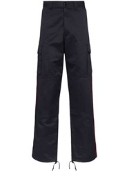 Vetements Police Cargo Trousers Blue