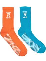 Guess Rokit Cotton Blend Tube Socks Blue