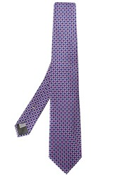Canali Geometric Patterned Tie Pink