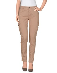 Scee By Twin Set Casual Pants Sand