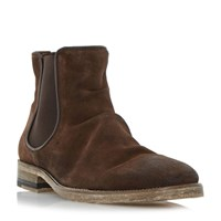 Bertie Chingy Washed Ankle Boot Dark Brown