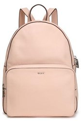 Dkny Woman Textured Leather Backpack Pastel Pink