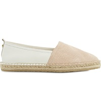 Dune Gespy Contrast Vamp Espadrille Shoes Nude Leather