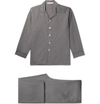 Cleverly Laundry Washed Cotton Pyjama Set Gray
